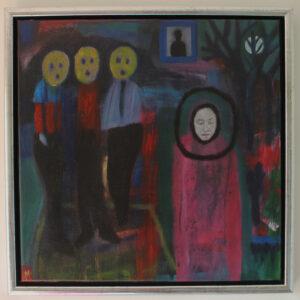 Emoji art, contemporary painting, modern portrait