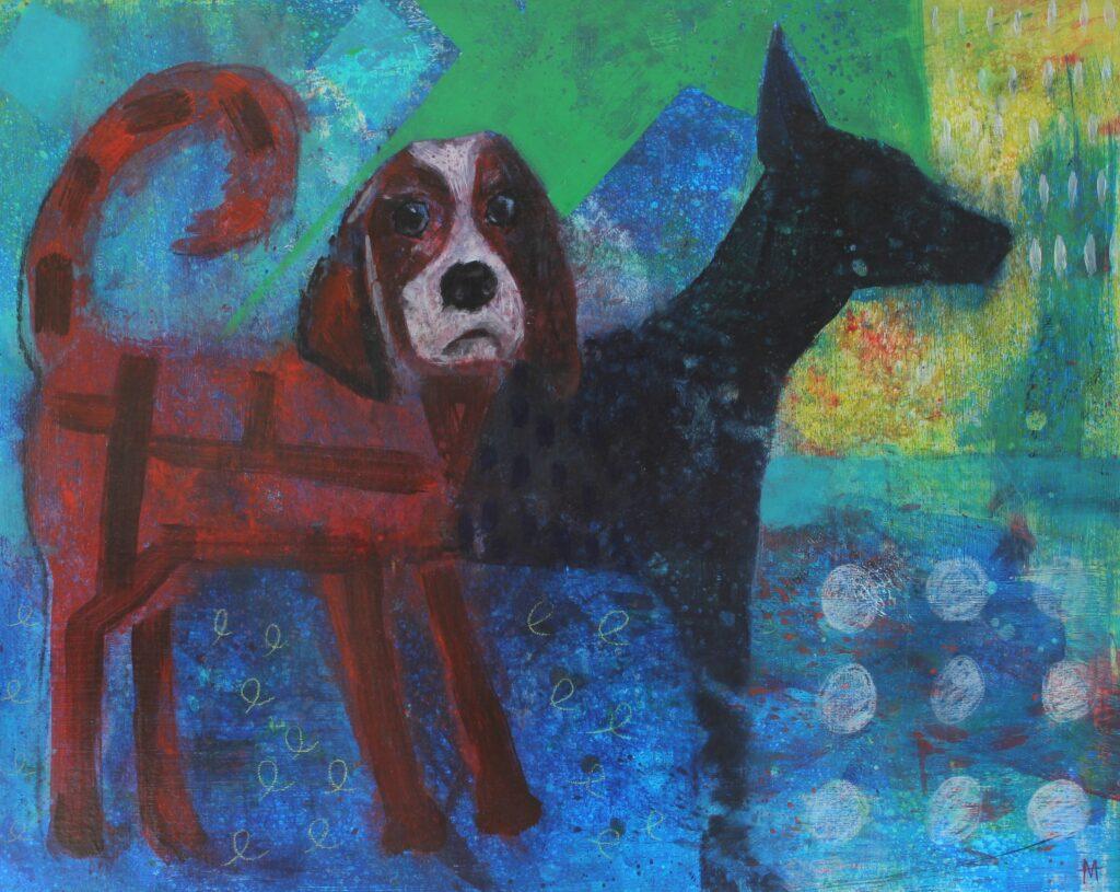 Dog Painting, springer spaniel art