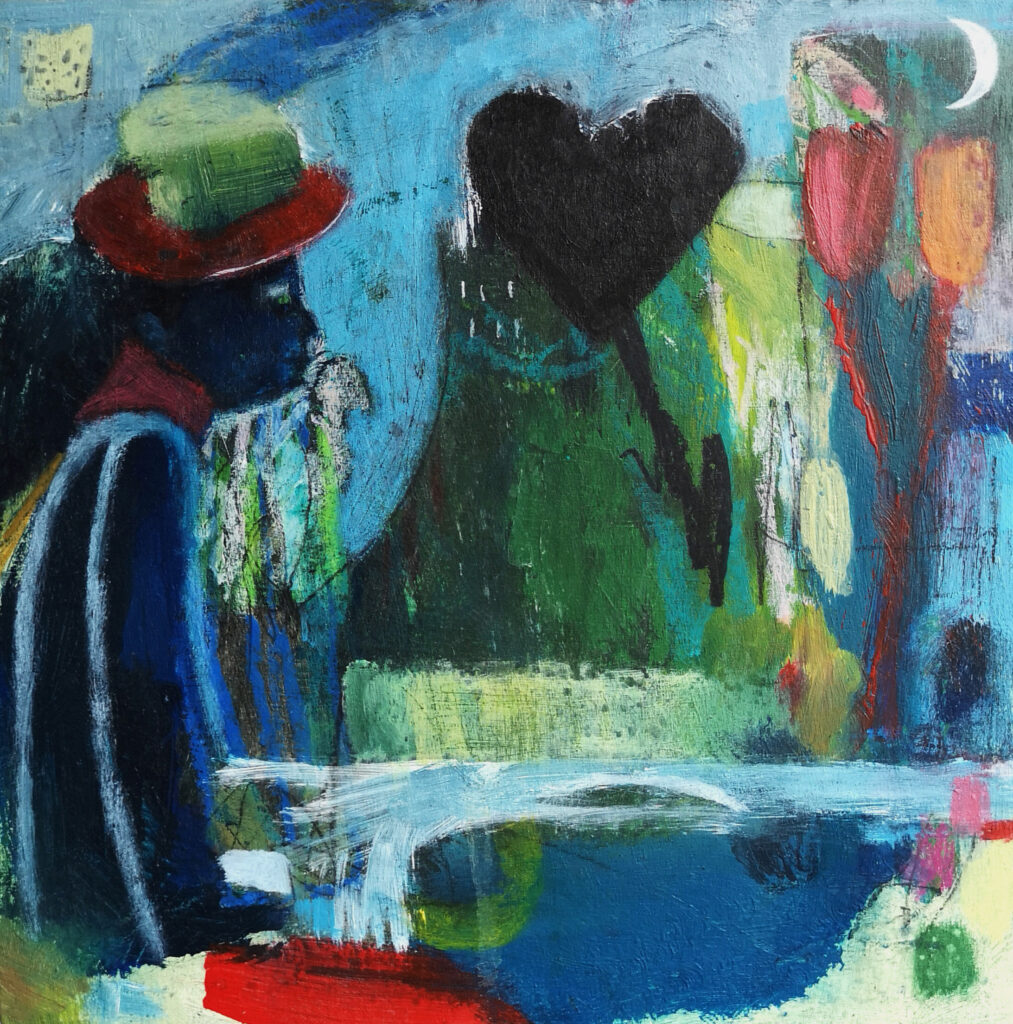 Contemporary paining, female artist,