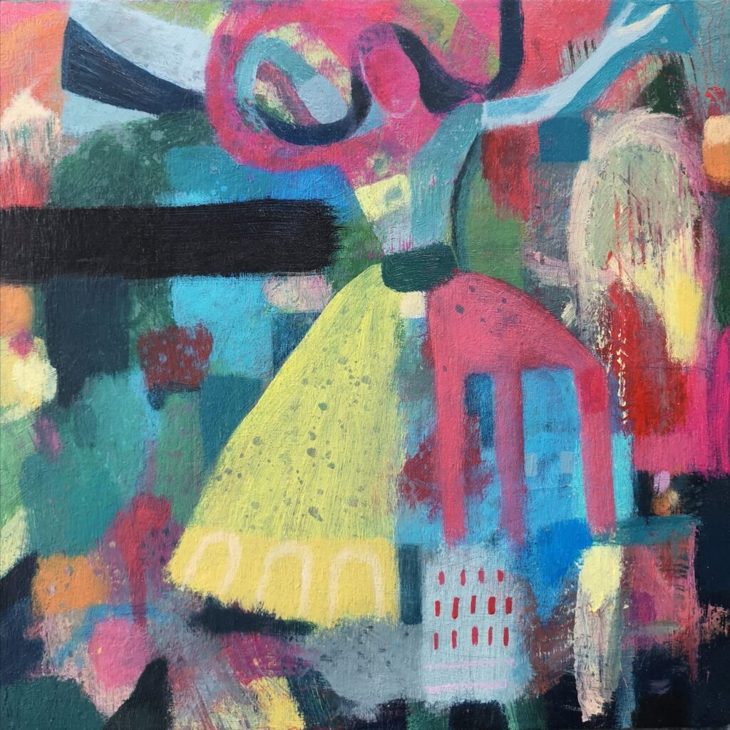 Contemporary painting, dancer art, abstract painting for sale