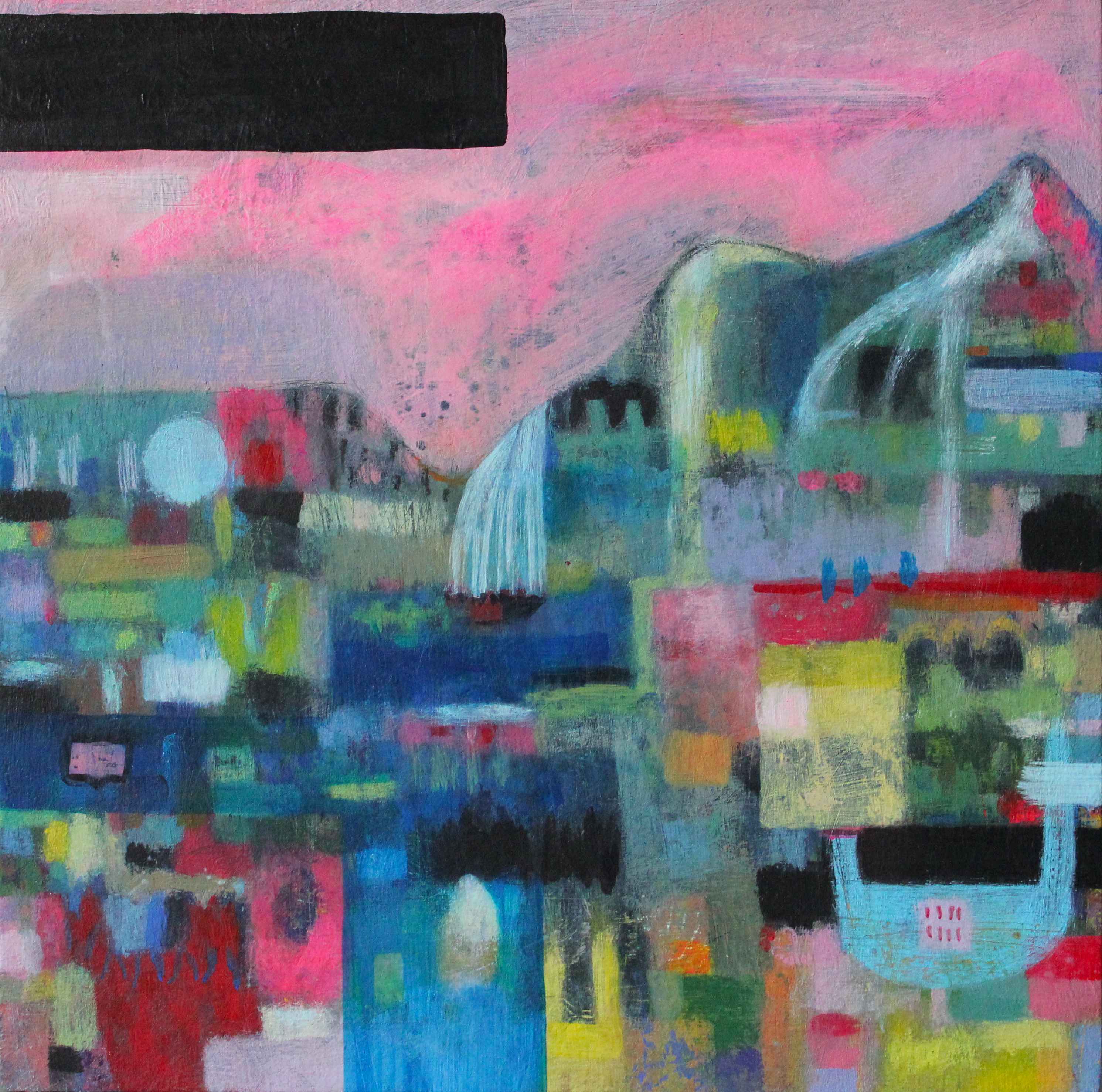 Abstracted landscape painting