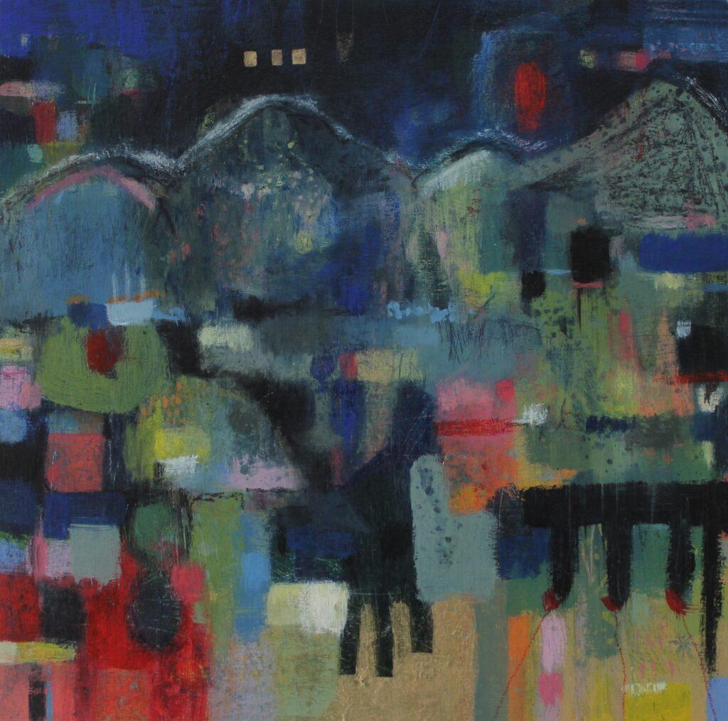 Abstract landscape, night landscape