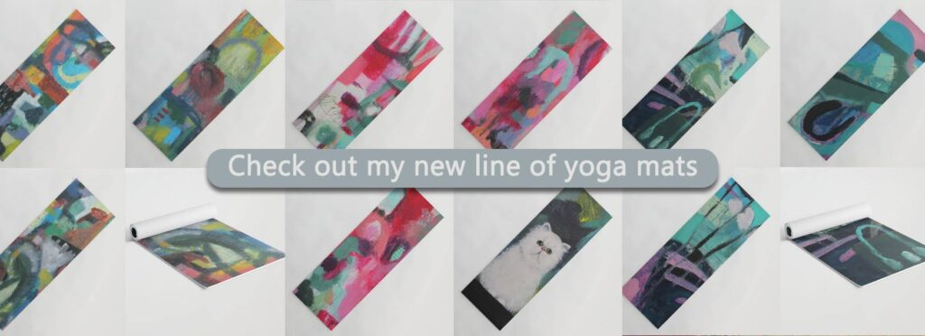 Contemporary Art Yoga Mats
