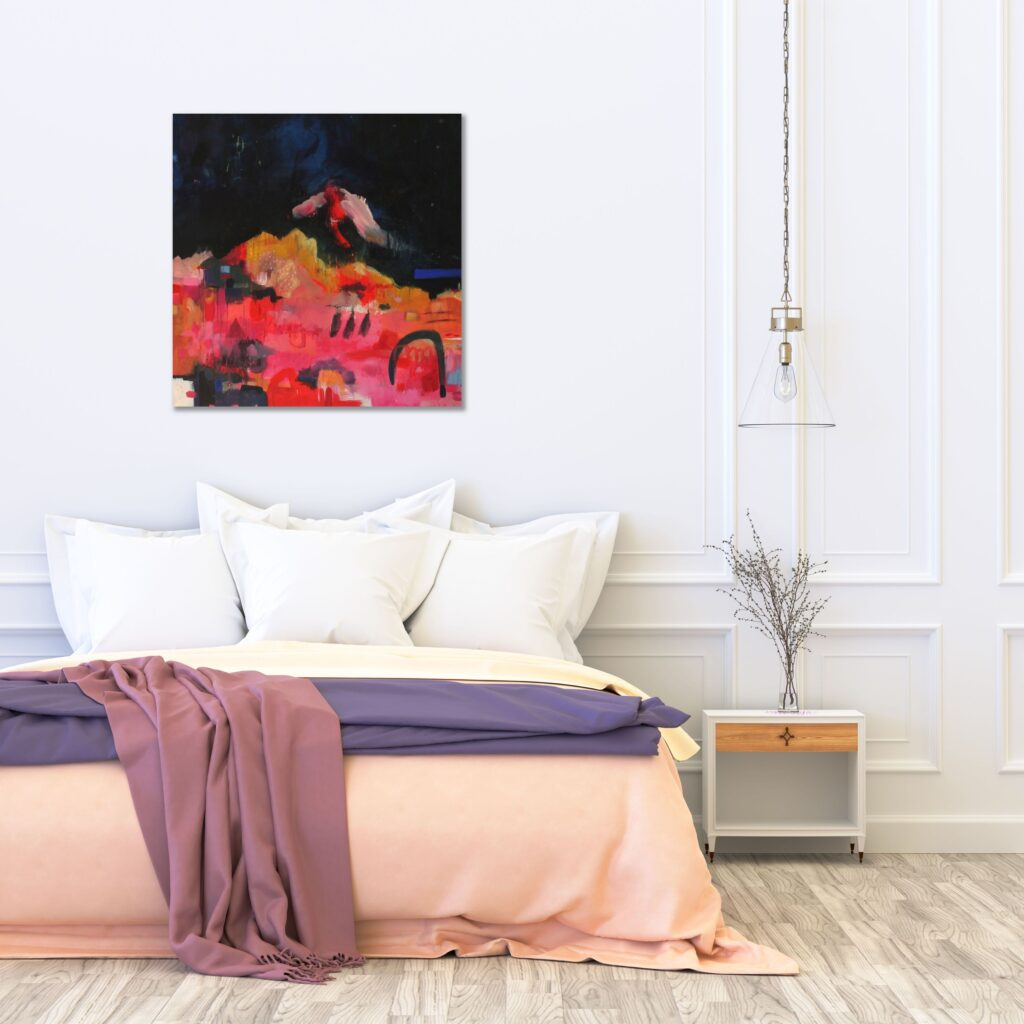 Purple bedroom art