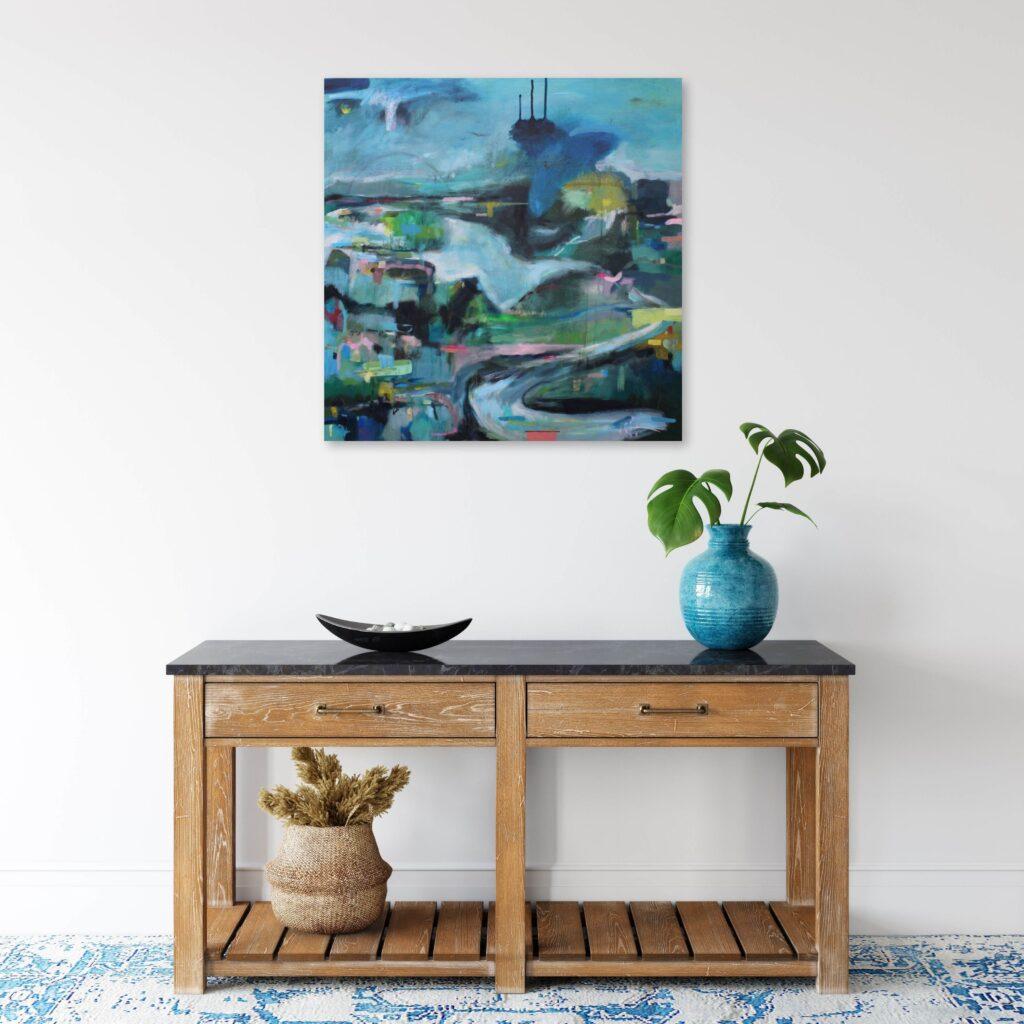 Landscape art for interior design