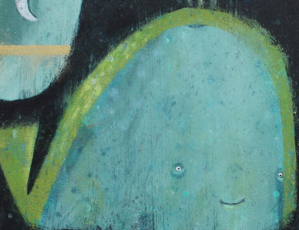 whale painting, childrens art, irish art, contemporary Irish art