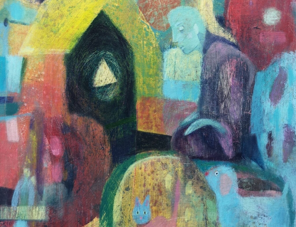 Spiritual art, spirit house, mystical art, affordable art