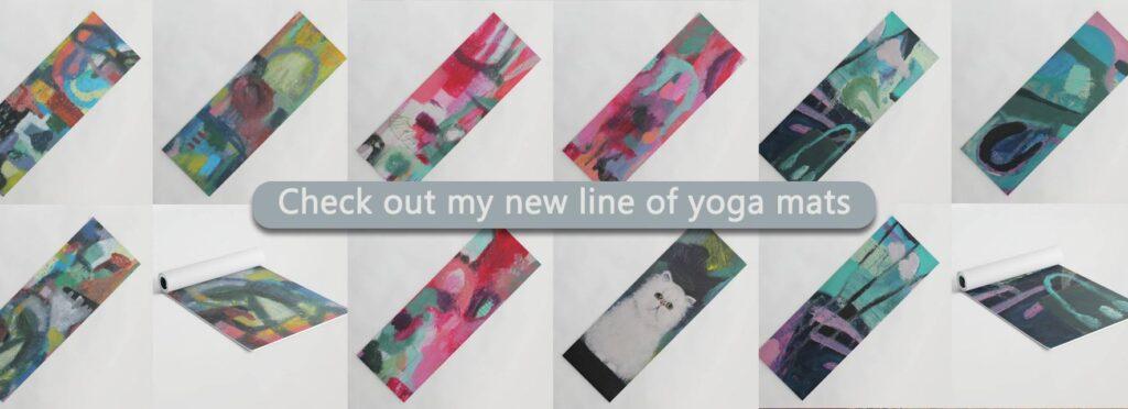 Contemporary Art Yoga Mats