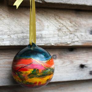 Christmas landscape ornaments