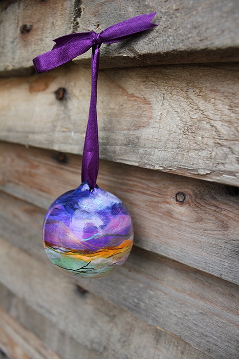 Hanging bauble hand made