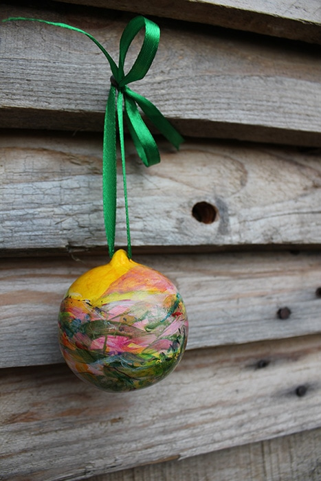 Artist painted ornaments