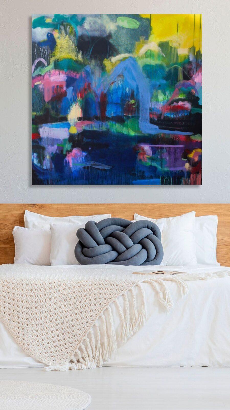 Bedroom abstract art