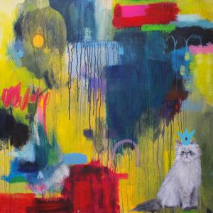 Grumpy cat painting