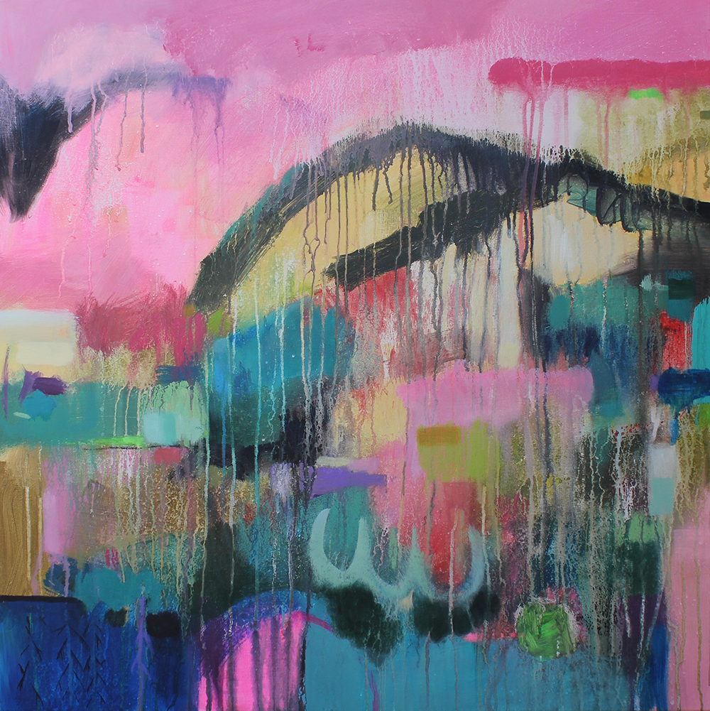 Large abstract painting Ireland