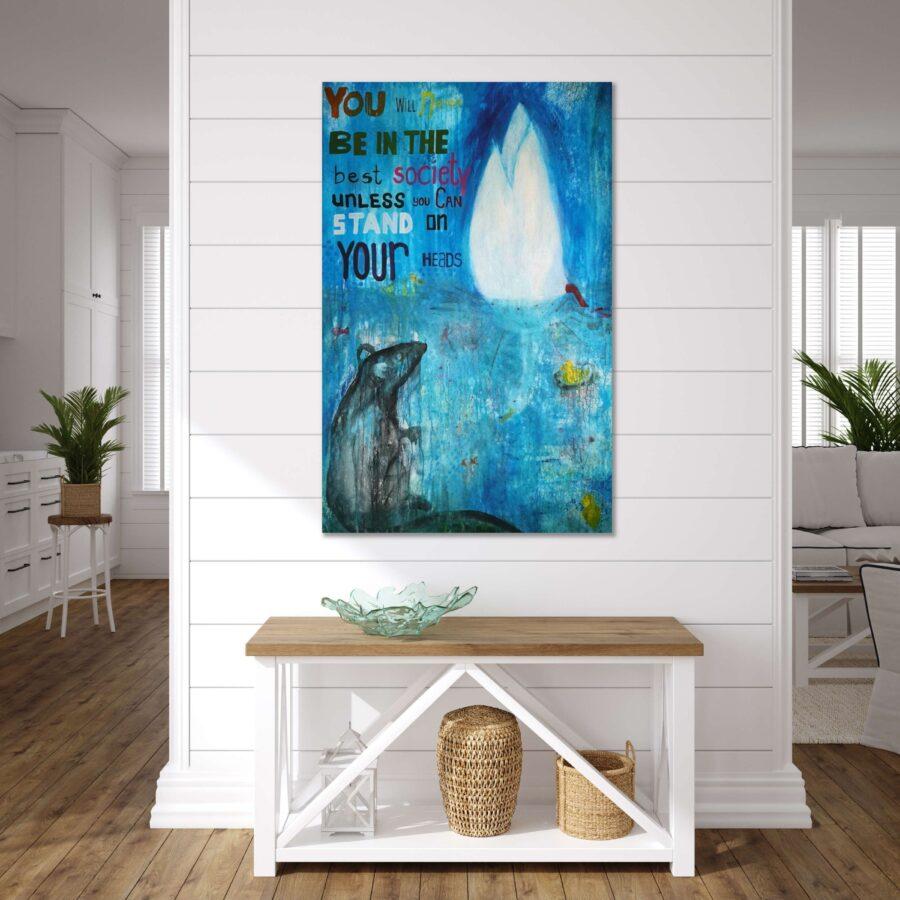 Large interior design painting